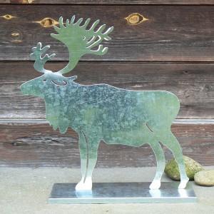 Dekoration: Zink Figur Elch 37 cm