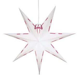 """Schwedischer Leucht-Stern """"Elvira"""" weiß-rot 60 cm"""