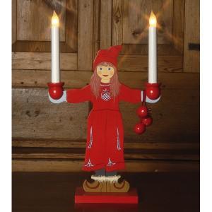 "LED-Leuchtfigur ""Sundborn"" flicka Mädchen"