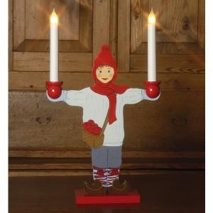 "LED-Leuchtfigur ""Sundborn"" pojke Junge"