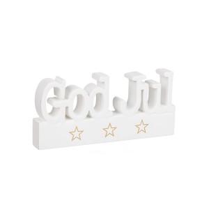 """Holzbuchstaben """"GOD JUL"""" weiß"""