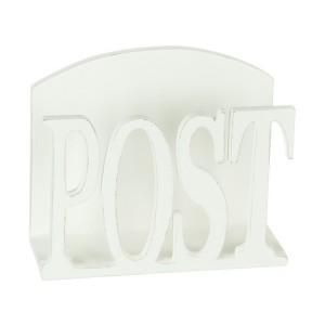 Briefständer Postablage aus Holz weiß im Shabby Stil
