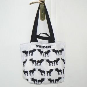 Einkaufstasche schwarze Elche