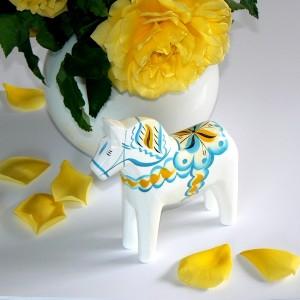 Dalapferd 13 cm Sverige weiß