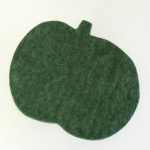 Schöne Tischdeko: Topfuntersetzer Apfel dunkelgrün