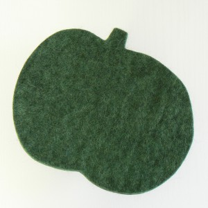Wollfilz Untersetzer Apfel dunkelgrün