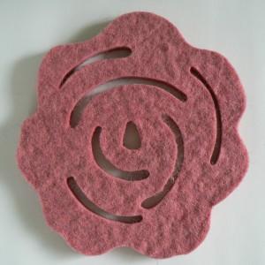 Filz Untersetzer Rose Schurwolle