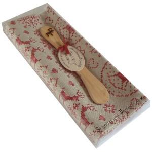 Geschenkpackung Geschirrtuch und Buttermesser Weihnacht