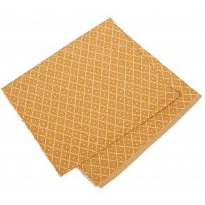 Gewebter Tischläufer 33x120 cm Ella Safran gelb recycelt