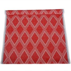 Teppich rot 70x160cm Baumwolle recycelt