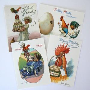 Schwedische Osterkarten mit nostalgischen Motiven Glad Påsk