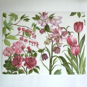 """Tischsets """"rosa Blumen"""" 2er-Set"""