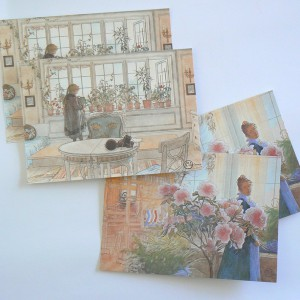 4 Schwedische Ansichtskarten Carl Larsson