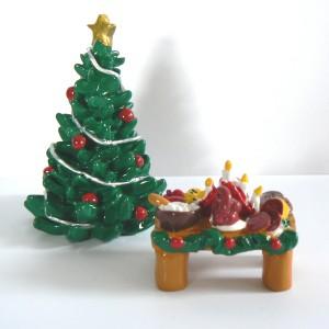 Tomte-Raum: Julbord mit gr. Weihnachtsbaum 2-teilig