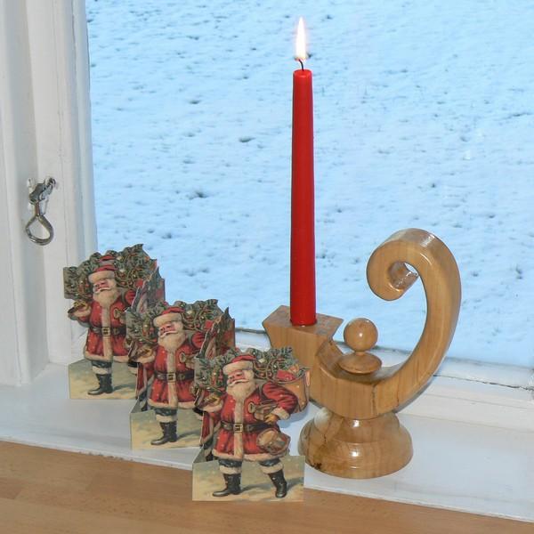 Leporello nostalgischer Weihnachtsmann / Nikolaus