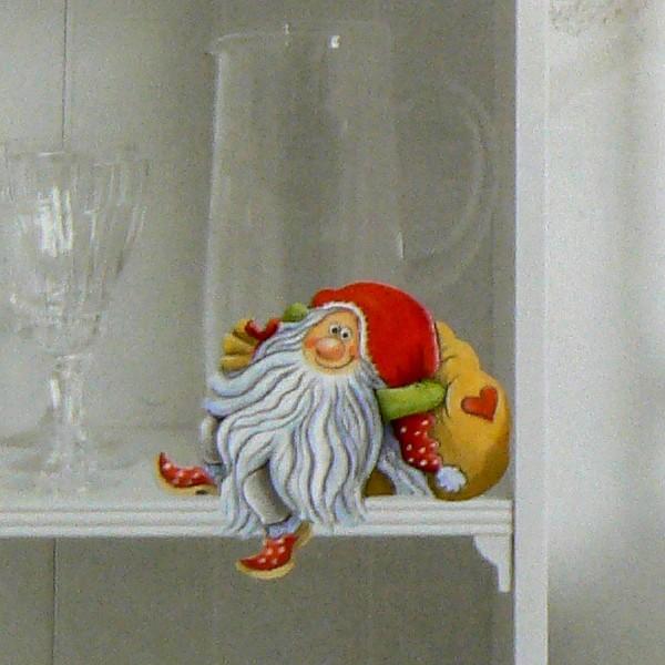 Schwedische Weihnachtsdeko: Pappfigur Tomte