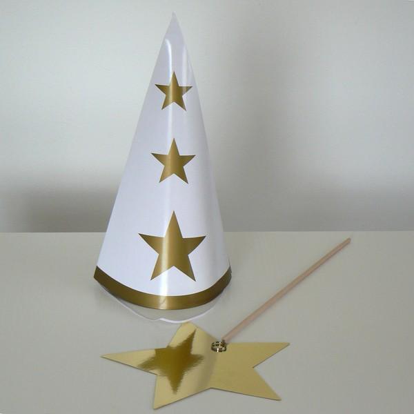 Für das Luciafest: Sternenjungen Zubehör Spitzhut und Sternen-Stab