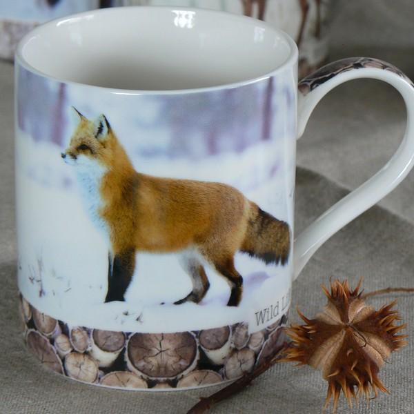 Kaffeebecher / Teebecher Fuchs aus Porzellan