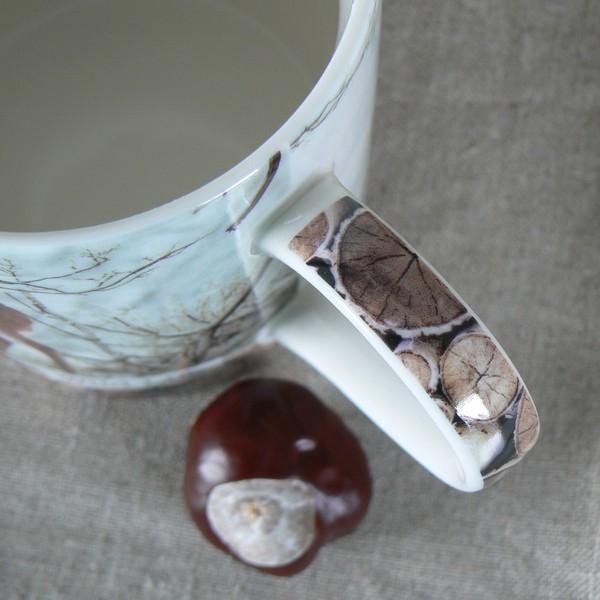 Kaffeebecher / Teebecher Reh aus Porzellan