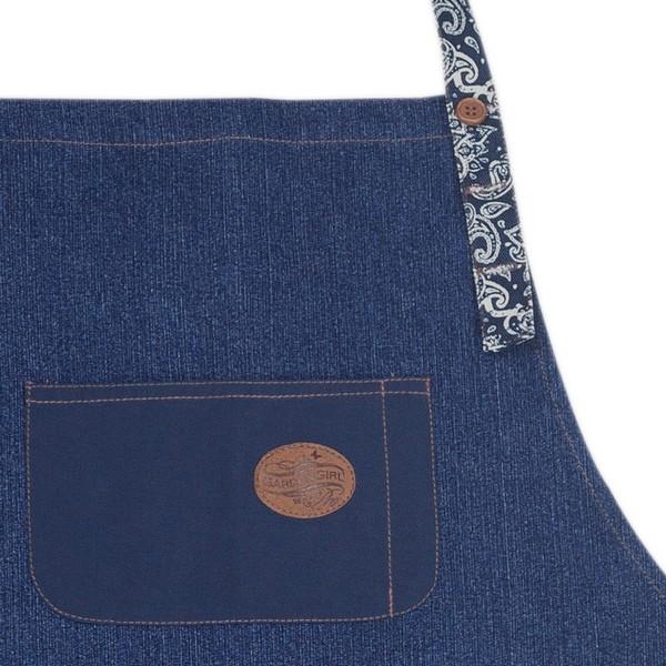 GardenGirl Schürze Denim Brusttasche mit Stiftfach