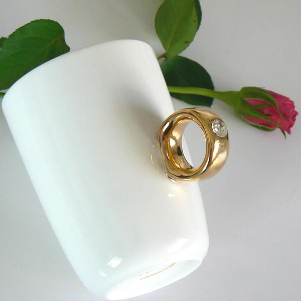 """Kaffeebecher / Teebecher mit Henkel wie ein goldener Fingerring mit einem """"Diamanten"""""""