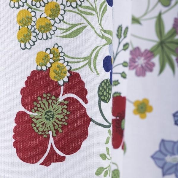 Gardinenschal / Vorhangschal mit Sommerblumen 2er-Set