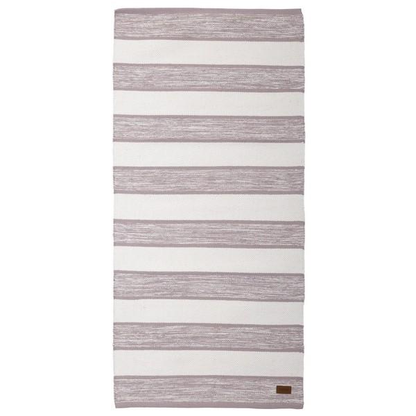 Teppich rosa weiß 70x140 cm Baumwolle