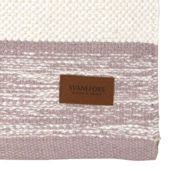 Webteppich rosa weiß 70x140 cm Baumwolle