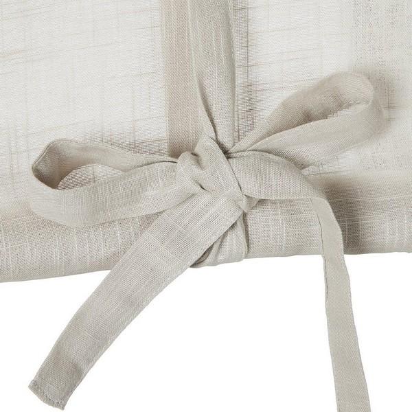 Skandinavische Raffgardine aus beige farbener Baumwolle mit Webeffekt