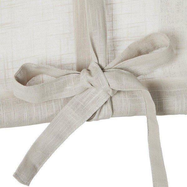 Schwedische Rollgardine aus beige farbener Baumwolle zum Hochbinden
