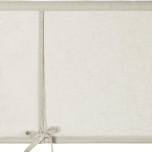 Schwedische Rollgardine 120 cm aus beige farbener Baumwolle zum Hochbinden