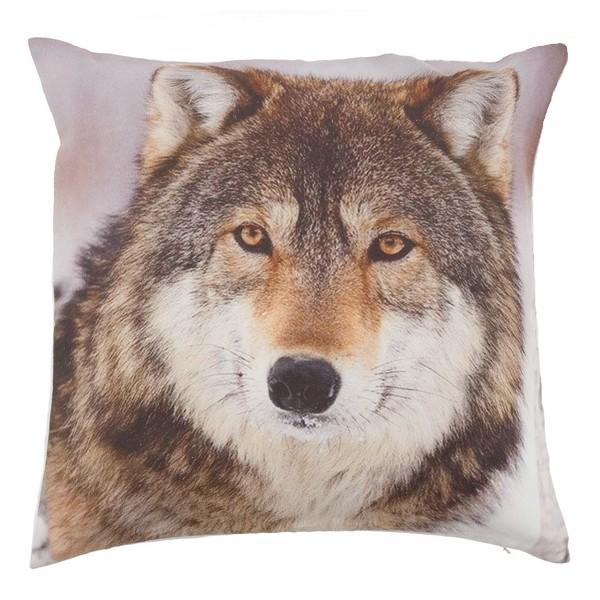 Kissenhülle / Kissenbezug 40x40 cm Wolf