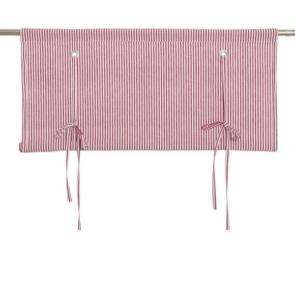 Schwedisches Binderollo rot-weiß gestreift aus Baumwolle