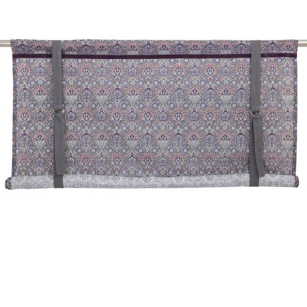 Schwedisches Binderollo Pernilla grau lila 100 cm aus Baumwolle