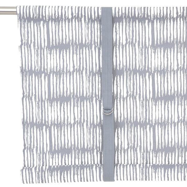 Typisch schwedisches Binderollo Brigitta hellgrau weiß 100 cm