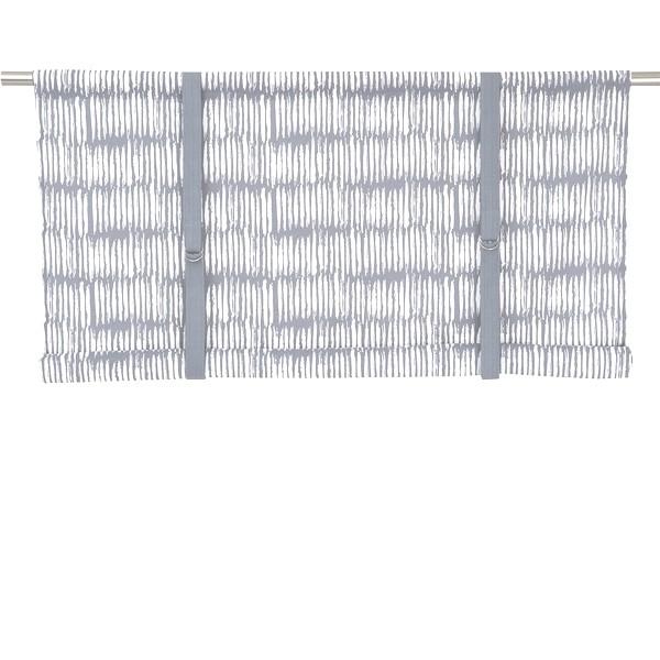 Typisch schwedische Rollgardine Brigitta hellgrau weiß 120 cm