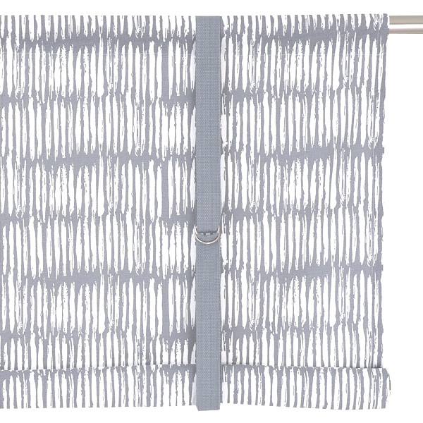 Typisch schwedische Bindegardine Brigitta hellgrau weiß