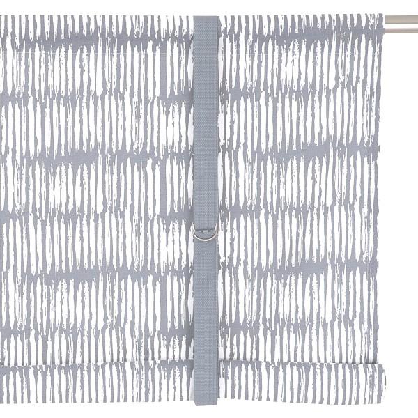 Typisch schwedische Bindegardine Brigitta hellgrau weiß 140 cm