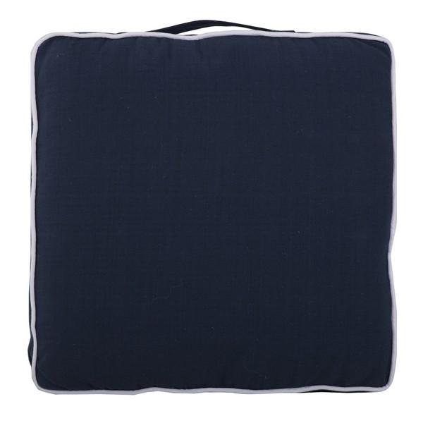 Stuhlkissen Sitzkissen marine blau mit Tragegriff