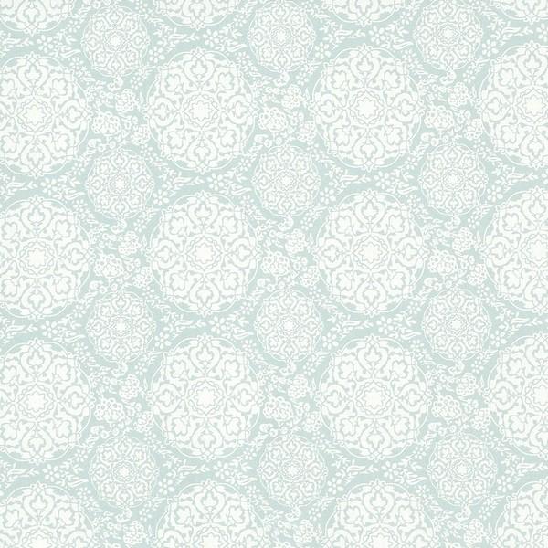 Gardinenschal / Vorhangschal / Vorhänge aus Baumwolle wollweiß mint
