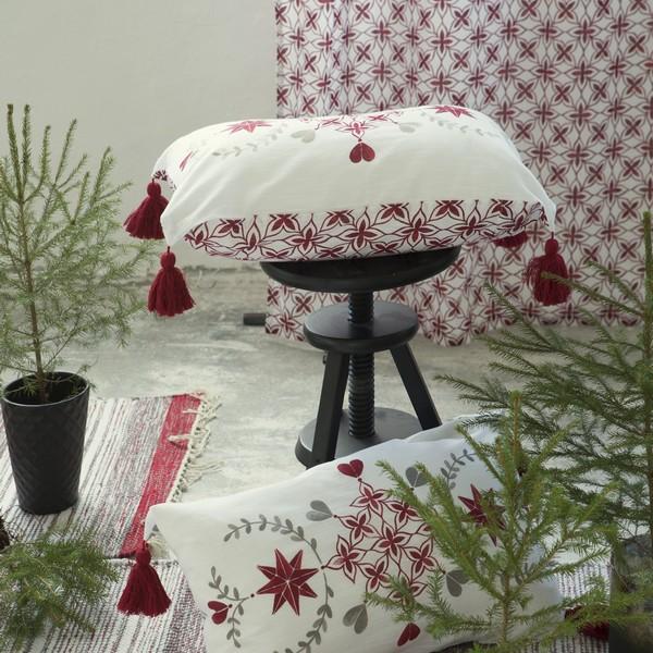 kissenh lle kissenbezug 40x60 cm r ttvik mit troddeln bei min butik online kaufen. Black Bedroom Furniture Sets. Home Design Ideas
