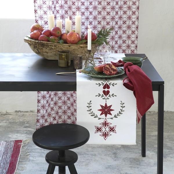 Tischläufer Rättvik im skandinavischen Landhausstil