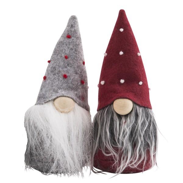 Schwedische Weihnachtsdeko: zwei Tomte Brüder 15 cm