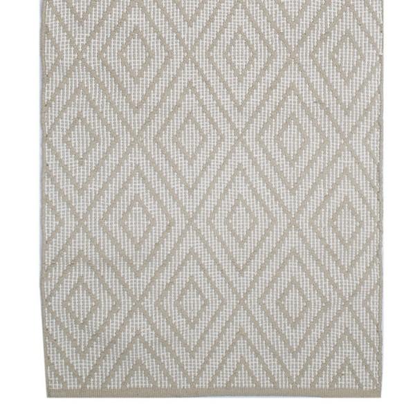 teppich rauten beige 70x240 cm baumwolle gewebt bei min butik online kaufen. Black Bedroom Furniture Sets. Home Design Ideas