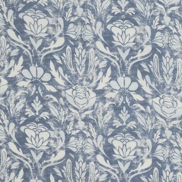 """Schwedische Gardinenserie """"Siljan blau"""" mit hellem Blumenmuster"""