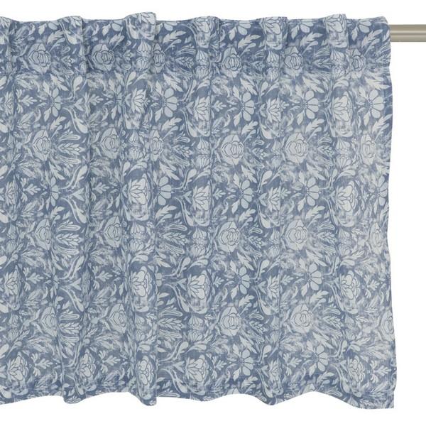 "Querbehang / Bistrogardine 250 x 50 cm ""Siljan blau"""