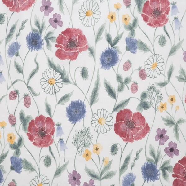 Querbehang / Bistrogardine 230 x 50 cm mit Sommerblumen