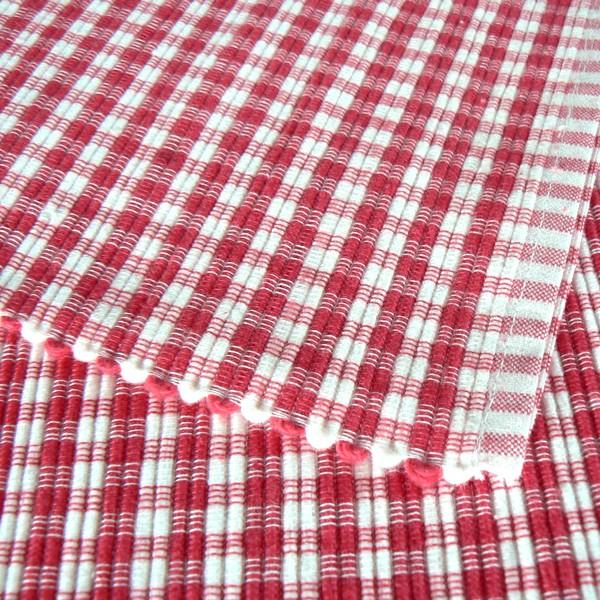 Tischsets rot-weiß aus Baumwolle