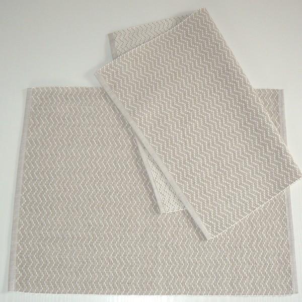 """Tischsets """"Zickzack beige""""  2er-Set aus Baumwolle gewebt"""