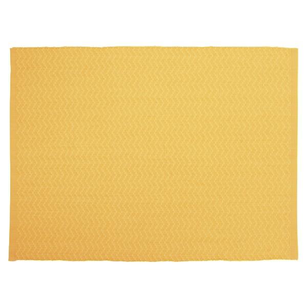 """Tischsets """"Zickzack gelb""""  2er-Set aus Baumwolle gewebt"""